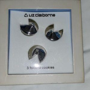 Liz Claiborne 3 Silver Fortune Cookies